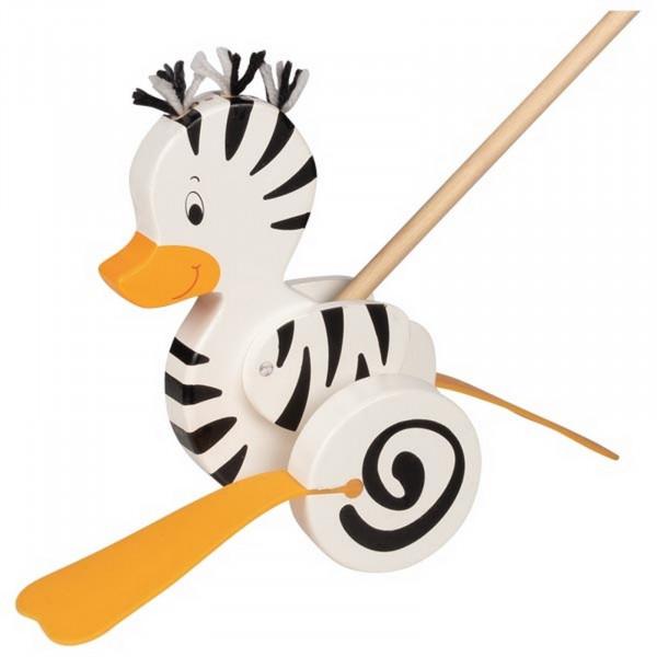 Goki Schiebetier Zebra-Ente