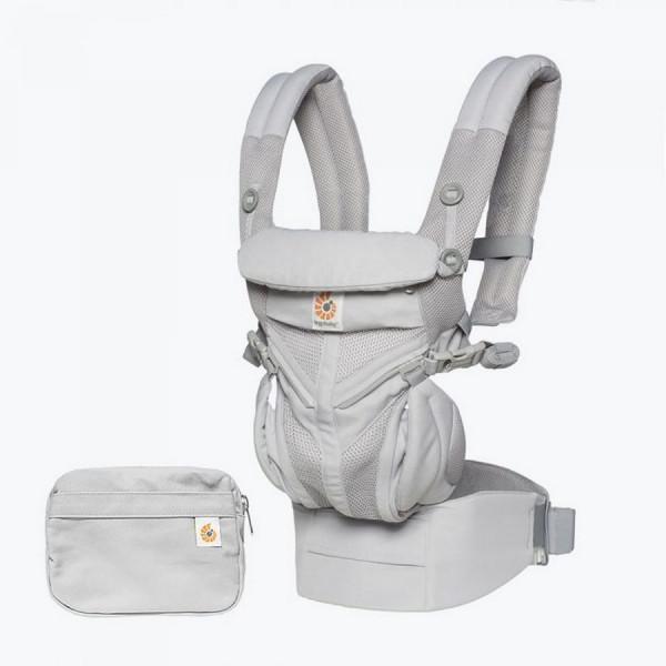 Ergobaby OMNI 360 Cool Air Mesh Babytrage - Cool Air Pearl Grey