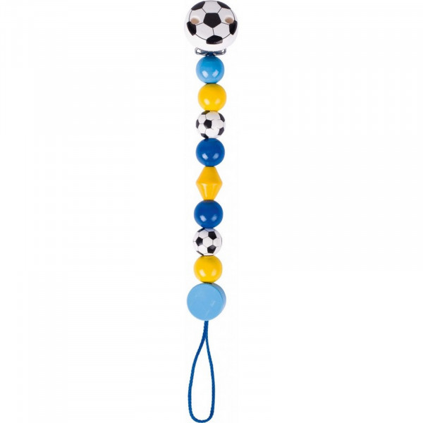 GoKi Schnullerkette Fußball, blau