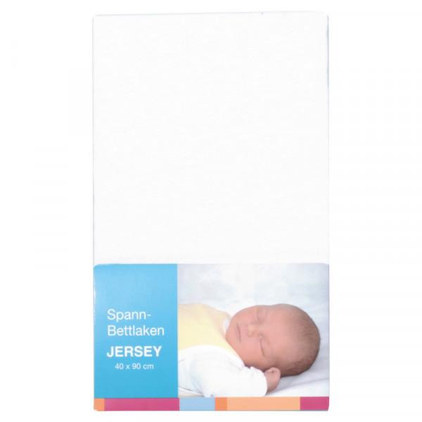 Baby-Plus Spannbettlaken Jersey 40x90 - White