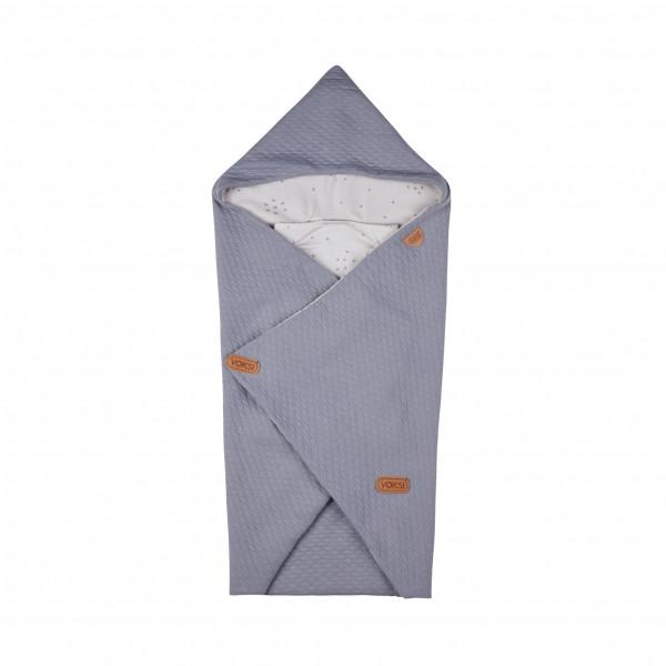 Voksi Baby Wrap Umschlagdecke Light Grey Star