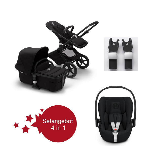 Bugaboo Fox2 Setangebot mit Babyschale Cloud Z I-Size- Schwarz, Schwarz