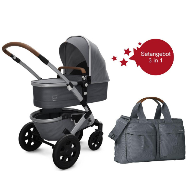 Joolz Geo 2 Setangebot Kinderwagen + Wickeltasche Gorgeous Grey