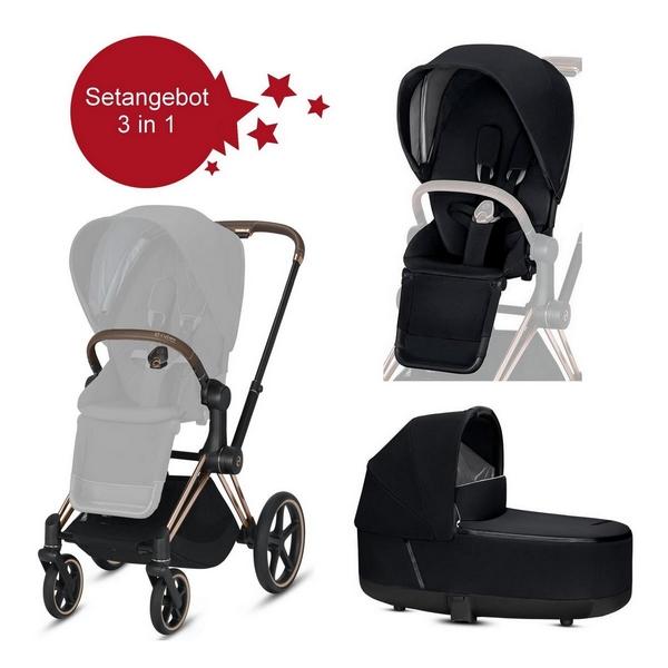 Cybex-Priam-Setangebot-Kinderwagen-LUX-Wanne-Rose-Gold-Premium-Black-Kopie-600px