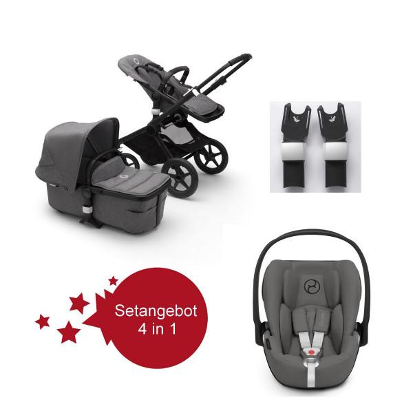 Bugaboo Fox2 Setangebot mit Babyschale Cloud Z I-Size- Schwarz, Grau Meliert