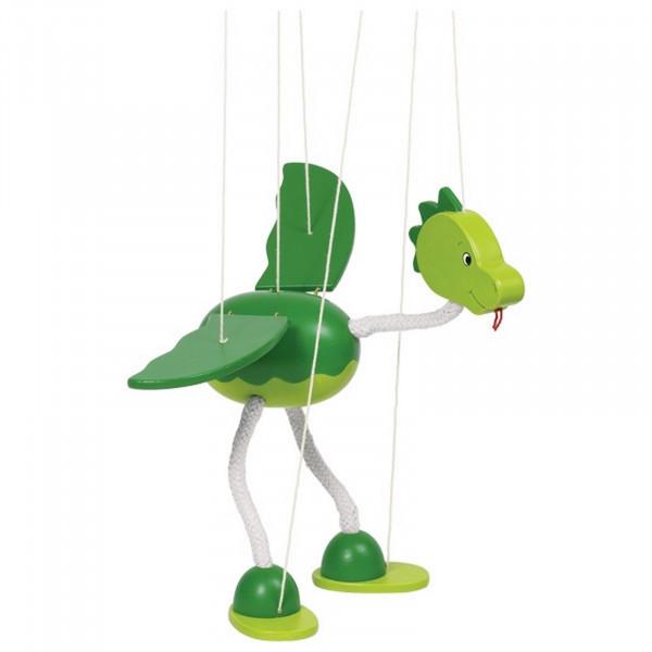 GoKi Marionette Dinosaurier Nepomuk aus Holz
