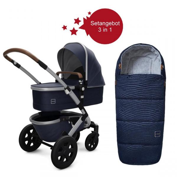 Joolz Geo 2 Setangebot Kinderwagen + Fußsack Classic Blue