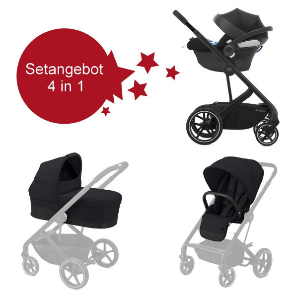 Cybex Balios S Lux Kinderwagen Setangebot 4in1- Deep Black
