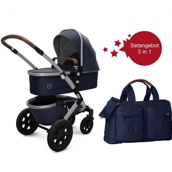 Joolz Geo 2 Setangebot Kinderwagen + Wickeltasche Classic Blue