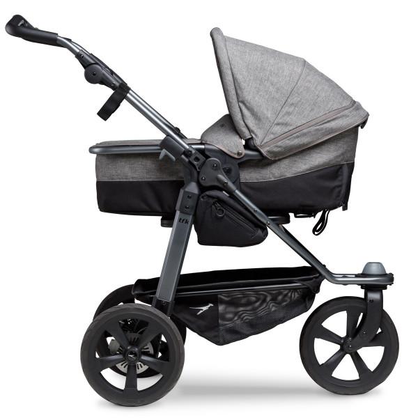 TFK Mono Kombi Kinderwagen mit Luftkammer Radset- Premium Grau