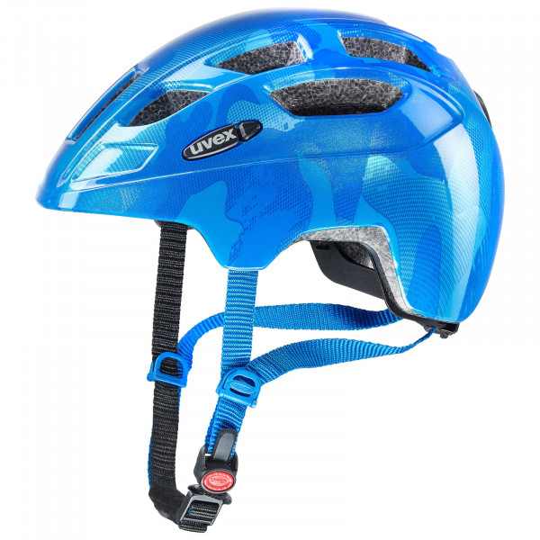 uvex finale junior LED Fahrradhelm blue