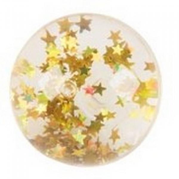 Goki Flummy mit Sternen und Wasser gefüllt - Gelb