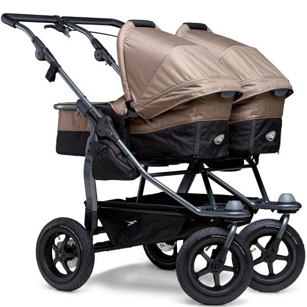 TFK Duo Kombi Kinderwagen mit Luftrad-Set- Braun